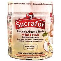 Azúcar de abedul-stevia SUCRAFOR, pack 60x5 g