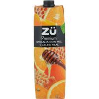 Zumo de naranja exprimido-miel-jalea ZÜ, brik 1 litro