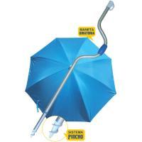 Sombrilla palo de aluminio 180 cm protección UPF50 1,5 kg, 1 ud