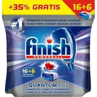 Lavavajillas máquina FINISH Quantum Max, bolsa 16+6 dosis