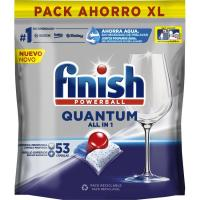 Lavavajillas máquina FINISH Quantum, bolsa 54 dosis