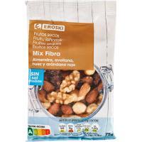 Mix fibra sin sal añadida EROSKI, bolsa 75 g
