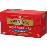 Té English Breakfast descafeinado TWININGS, caja 25 sobres