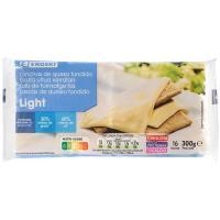 Queso fundido light EROSKI, lonchas, paquete 300 g