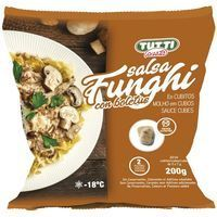 Cubitos de salsa funghi TUTTI PASTA, bolsa 200 g