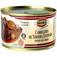 Carrilleras de ternera estofada IRURA, lata 425 g