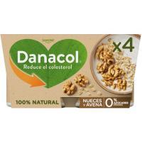 Danacol cuchara de avena-nueces DANONE, pack 4x120 g