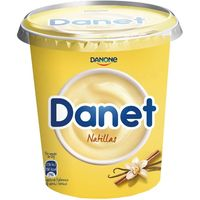 Natillas big pot de vainilla DANET, tarrina 400 g