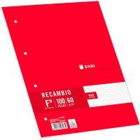Recambio Folio con cuadro 4x4, ENRI 100 hojas