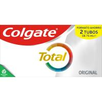 Dentífrico original COLGATE Total, pack 2x75 ml