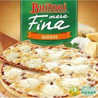 Pizza masa fina de 3 quesos BUITONI, caja 300 g