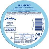 Queso fundido light EL CASERÍO, 16 porciones, caja 250 g