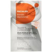 Bandas depilatorias faciales de cera belle, paquete 16 uds
