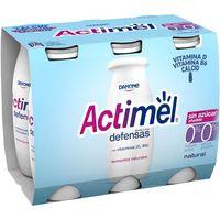 Actimel 0% m.g. 0% azúcares DANONE, pack 6x100 g