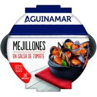 Mejillones en salsa de tomate AGUINAMAR, bandeja 500 g