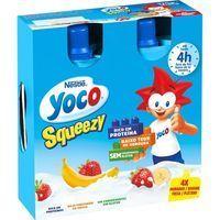 Petit Squeezy fresa-plátano NESTLÉ Yoco, pack 4x80 g