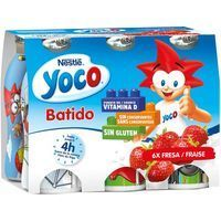 Batido de fresa NESTLÉ Yoco, pack 6x90 g