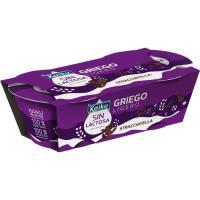 Yogur griego ligero sin lactosa stracciatella KAIKU, pack 2x90 g