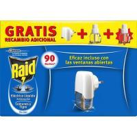 Insecticida eléctrico líq. 45 noches RAID, aparato + 2 recambios