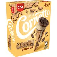 Cono de vainilla-brownie CORNETTO, 4 uds., caja 240 g