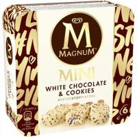 Mini bombón choco blanco&cookies MAGNUM, 6 uds., caja 270 g