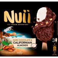 Bombón de nata-chocolate-almendras NUII, 3 uds., caja 198 g