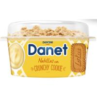 Natillas Topper crunchy de cookie DANET, tarrina 122 g