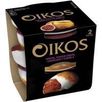 Yogur griego de higo-manzana-canela OIKOS, pack 2x115 g