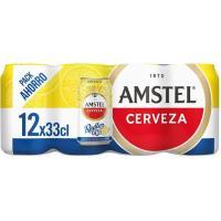 Cerveza 0,0 Radler AMSTEL, pack lata 12x33 cl