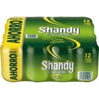 Cerveza limón SHANDY, pack 12x33 cl