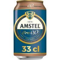 Cerveza 0,0 AMSTEL Oro, lata 33 cl
