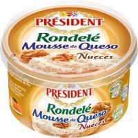 Mousse de queso con nueces PRESIDENT, tarrina 100 g