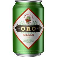 Cerveza Bilbao ORO, lata 33 cl