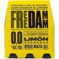 Cerveza limón FREE DAMM, pack 6x25 cl
