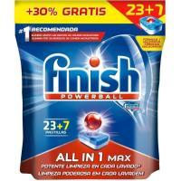 Lavavajillas máquina FINISH Todo en 1, bolsa 23+7 dosis