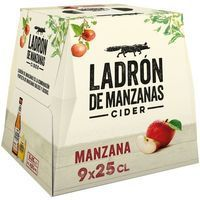 Sidra LADRÓN DE MANZANAS, pack 9x25 cl