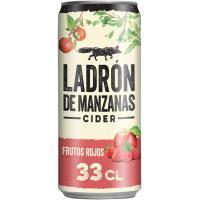 Cider sabor frutos rojos LADRÓN DE MANZANAS, lata 33 cl