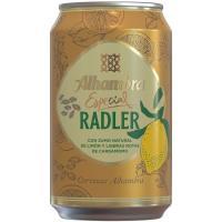 Cerveza Radler ALHAMBRA, lata 33 cl