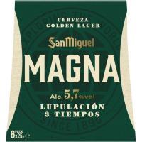 Cerveza Magna SAN MIGUEL, pack botellín 6x25 cl