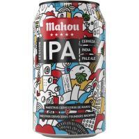 Cerveza Ipa MAHOU 5 Estrellas, lata 33 cl