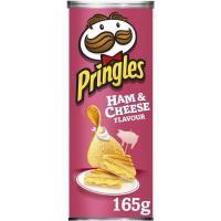 Aperitivo sabor jamón&cheese PRINGLES, tubo 165 g