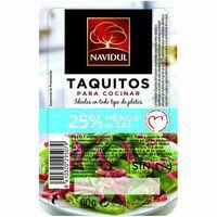 Taquitos de jamón 25% menos de sal NAVIDUL, bandeja 60 g