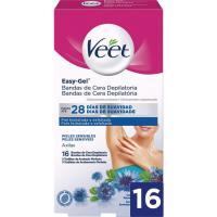 Bandas depilatorias para axilas VEET, caja 16 uds.