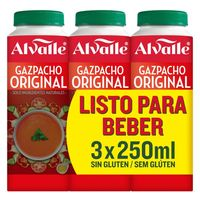 Gazpacho original ALVALLE, pack 3x250 ml