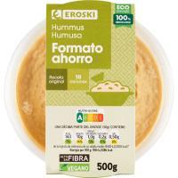 Hummus con aceite de oliva EROSKI, tarrina 500 g