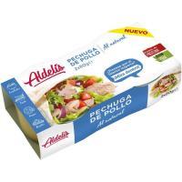 Pechuga de pollo al natural ALDELIS, pack 2x52 g