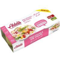 Pechuga de pavo al punto de sal ALDELIS, pack 2x52 g