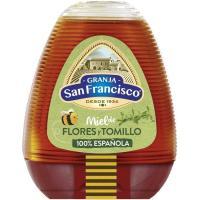 Miel de tomillo GRANJA SAN FRANCISCO, dosificador 350 g