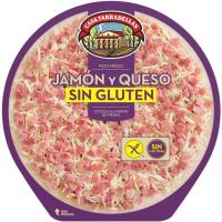 Pizza de jamón-queso sin gluten-sin lactosa TARRADELLAS, 420 g
