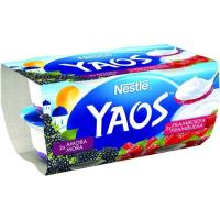 Yogur griego de mora-frambuesa YAOS, pack 4x110 g